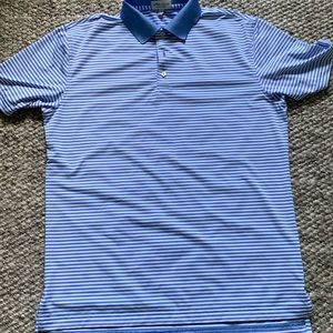 Blue Striped Peter Miller Polo in great condition